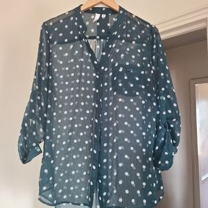Kut From The Cloth Polka Dot Blouse